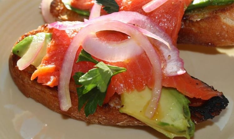 Wild Smoked Salmon & Avocado Crostini