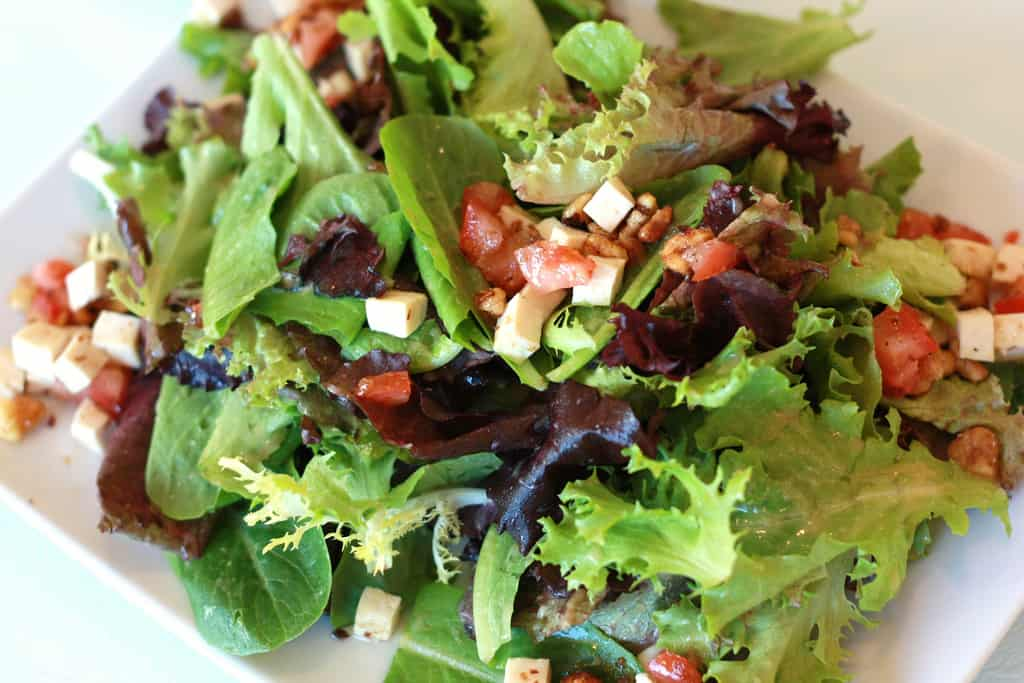 The Perfect Mixed Green Salad with a Simple Vinaigrette
