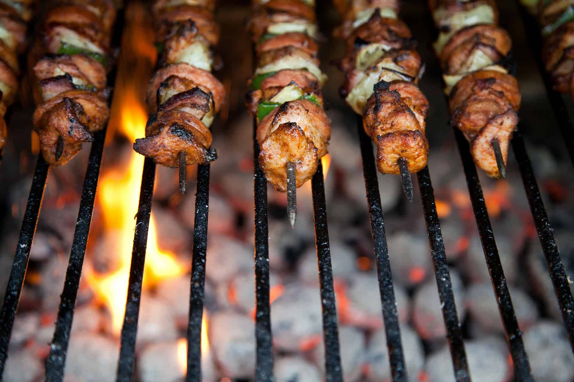 Garlic-Balsamic Chicken Kebabs