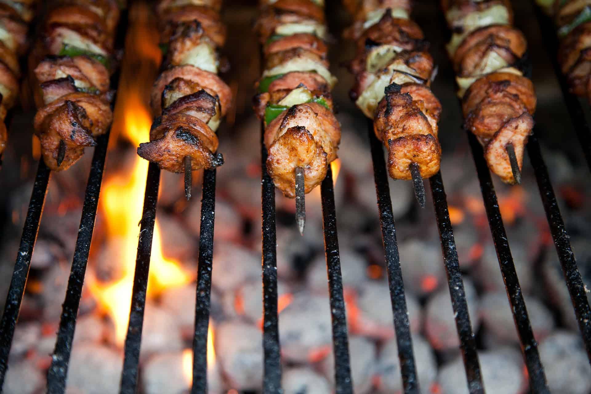 Garlic-Balsamic Chicken Kebabs