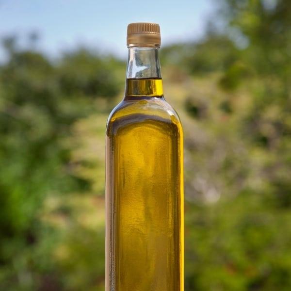 photo of bottle of olive oil representing nocellara extra virgin olive oil