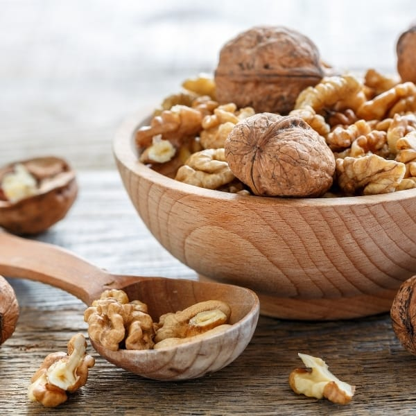 photo of walnuts in bowl representing roasted walnut oil