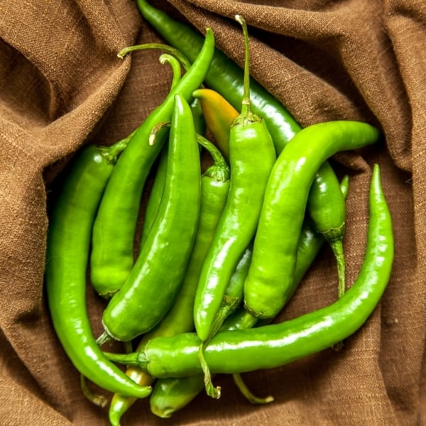 photo of green chilis representing baklouti green chili olive oil