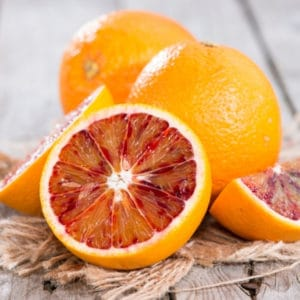 photo of blood oranges representing blood orange olive oil