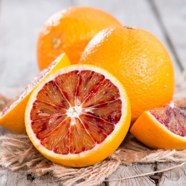 photo of blood oranges representing blood orange olive oil