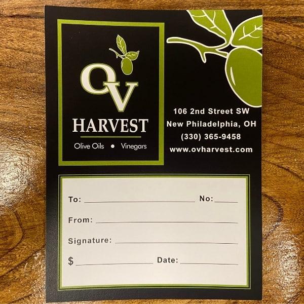 ov harvest gift card