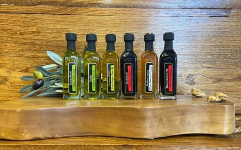 OV Harvest Italian sampler on wood background